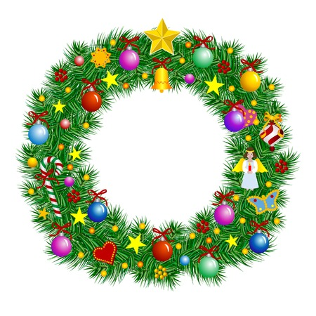 Letter O - Christmas tree decoration - Alphabet Vector