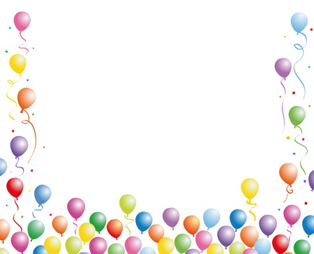 Balloons fly to the sky Vector