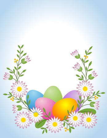 arrangement: Easter egg with daisy Illustration