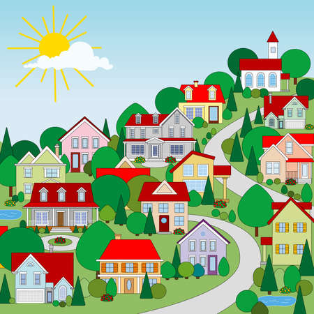 Houses Stock Vector - 3408105