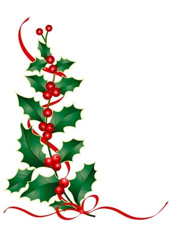 Natale, l'agrifoglio decorazione Vettoriali
