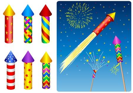 Petardo, fuochi d'artificio, razzi