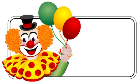 joker face: Happy clown Illustration