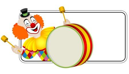 clown cirque: Clown le batteur