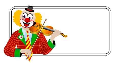 violinist: Clown the violinist � one of series of clowns musicians