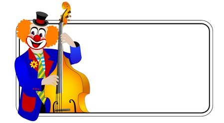 contra bass: Clown the contra bassist – one of series of clowns musicians