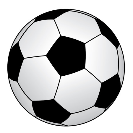 worldcup: Image soccer ball isolated on a white background Illustration