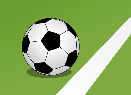 The vector image of a ball on a soccer field Stock Vector - 1533544