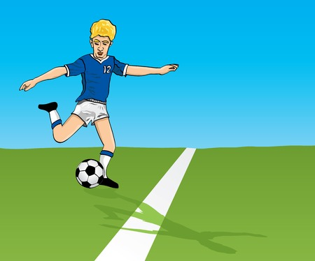 The vector image soccer player on a field Stock Vector - 1533549