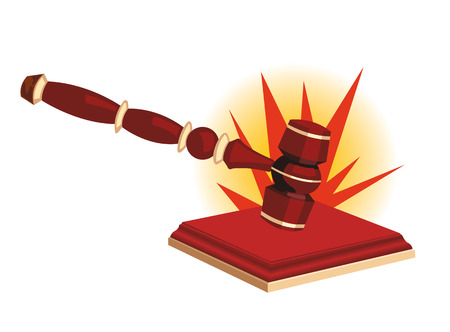 auctioneer: Hammer of chairman of assembly, the judge or the auctioneer Illustration