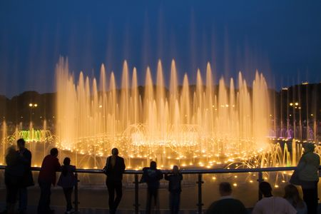 Big Fountain in Tsaritsyno Park, Moscow. Russia photo