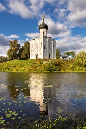 intercession: Church of the Intercession on the Nerl. Built in 12th century. Bogolyubovo, Vladimir region, Golden Ring of  Russia