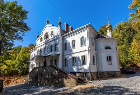 brethren: Stone building for the brethren Assumption Monastery. Lipetsk. Russia Stock Photo