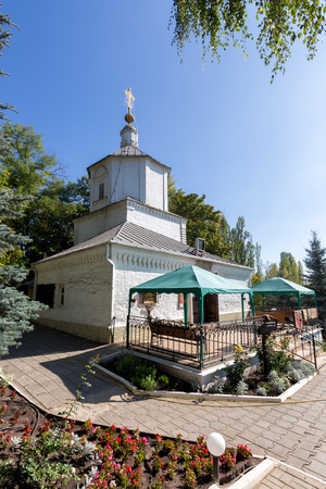 assumption: The ancient Church of the Assumption. Holy Dormition Monastery diocesan. Lipetsk. Russia Stock Photo