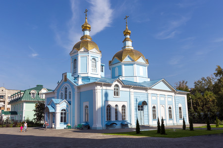 all weather: TAMBOV, RUSSIA - SEPTEMBER 13, 2014: Tambov city. Church of Our Lady of Joy of All Who Sorrow in Ascension Monastery