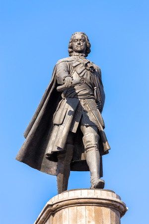 founder: LIPETSK, RUSSIA - SEPTEMBER 18, 2014: Monument to Peter the Great is one of the main attractions of the city of Lipetsk