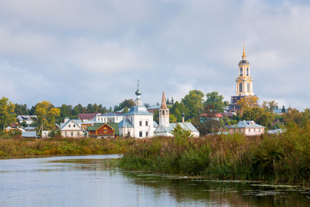 golden ring: View of the church in Suzdal. Golden Ring of Russia