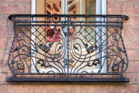 blacksmith shop: a decorative balcony a wrought metal Stock Photo