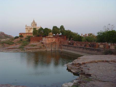 latticework: Place of cremation of the Maharaja