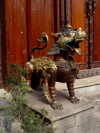 workship: Bronze Lion from Katmandu