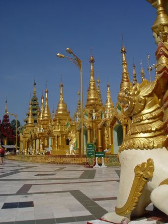 Shwedagon Pagoda in Yangoon, Myanmar photo