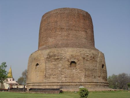 the stupa: Sarnath stupa