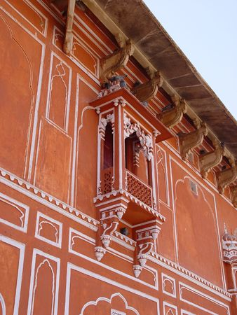 maharaja: window, wind, visit, vacation, travel, tourism, palace, trees, monument, maharani, maharaja, mahal, landmark, agra, indian, india, history, heritage, facade, detail, decoration, culture, cultural, carved, building, balconies, asia, architecture, Jaipur, R