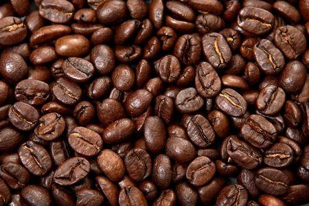 Fried coffee grain photo