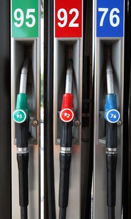 Tres bombas de gasolina  Foto de archivo - 504951