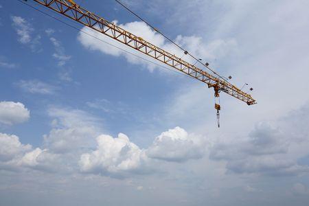 poleas: Crane & cielo  Foto de archivo
