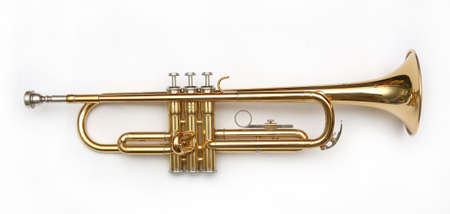 trumpet on white background Stock Photo - 504937