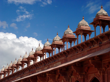 fatehpur: Towers to great mosque at Fatehpur Sikri, India
