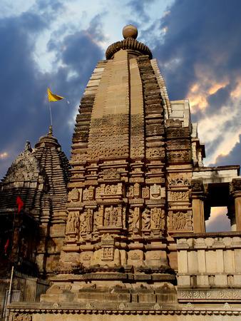 khajuraho: Templo de Khajuraho. India