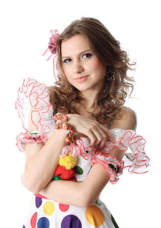 Teen girl in party dress Stock Photo - 2712812