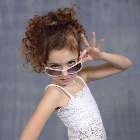 pretty little girl: Pretty little girl posing for portrait Stock Photo