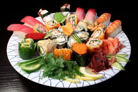 sushi plate: Japanese food