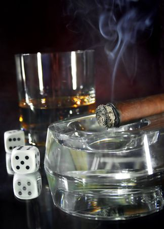 vice: Cigar Stock Photo
