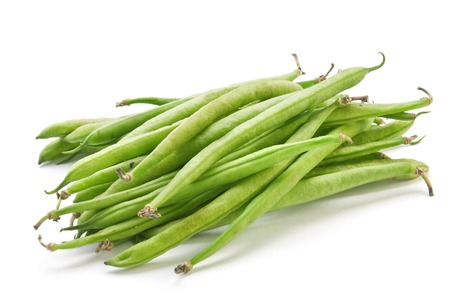 French green bean vegetable isolated on white photo