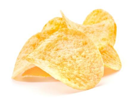 preparaba: Preparados papas fritas snack closeup vista Foto de archivo