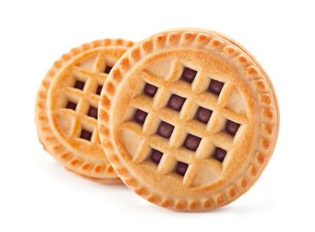 opvulmateriaal: Gebakken cookie met zoete vulling Stockfoto