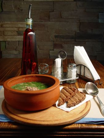 okroshka: Soup an okroshka  Stock Photo