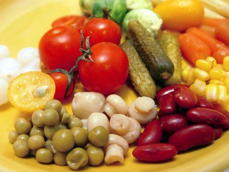 marinade: Allsorts with marinade  Stock Photo