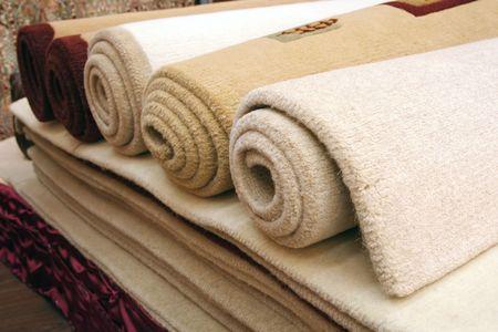 largely: Carpets  Stock Photo