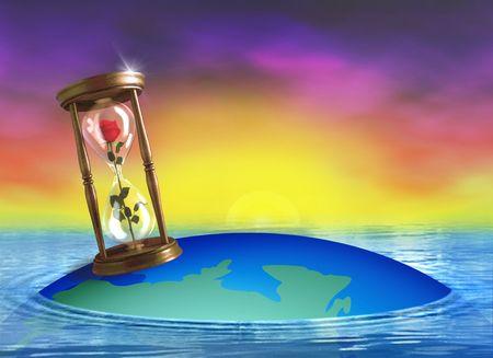 C'est votre temps! Digital image. Illustrator et Photoshop travail combin�. Banque d'images