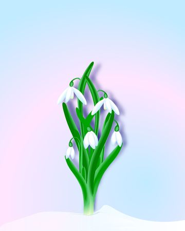 Digital illustration. Gradient Mesh. Stock Photo