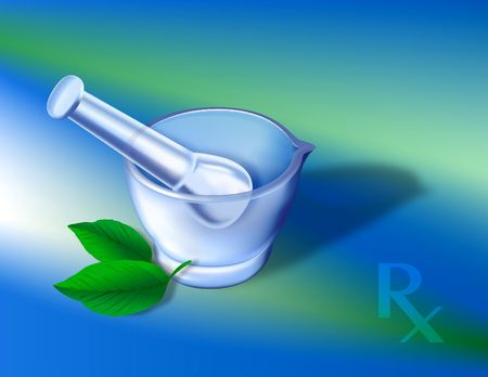 pharmacy symbol: Digital illustration. Gradien mesh, layer modes.