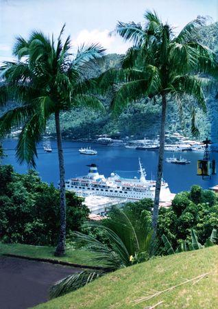 Cruise Ship In Bay