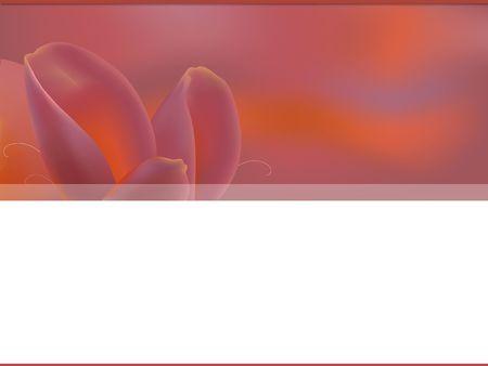 Web template - motif de p�tales de tulipe. Digital illustration.