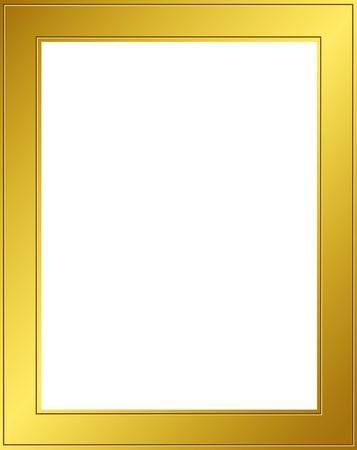 Golden frame with clipping path. Digital illistration. Gradient mesh Stock Photo - 454706