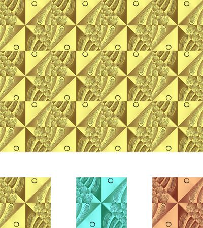Set of seamless tiles. Bright 8. Clipping path. Stock Photo - 471695